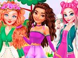 Игра Моана, Эльза и Мерида на Пикнике