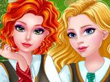 Принцессы Мерида и Аврора в Колледже